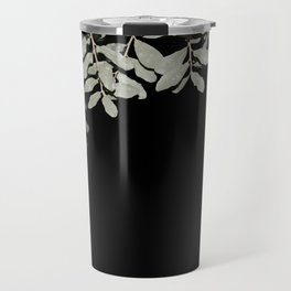 Boarder of Leaves at Night Travel Mug