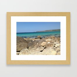 Rocks and water Framed Art Print