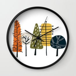 Fall Pattern Wall Clock