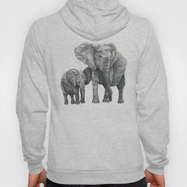 African Elephant and Calf Hoody