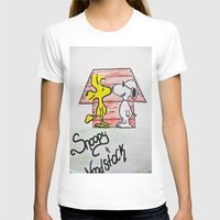 snoopy T-shirts featuring Snoopy and Woodstock by BritniSimone