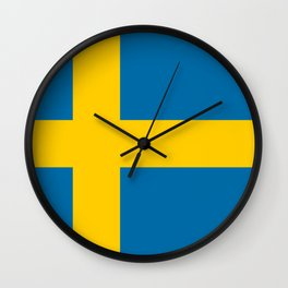 National flag of Sweden Wall Clock