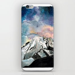 Star Storm Over the Mountain iPhone Skin