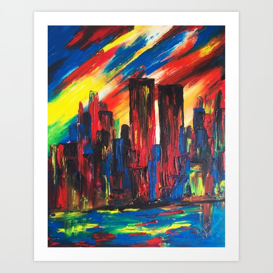 9-11 Never Forget Art Print