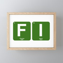 Financial Independence Periodic Table Framed Mini Art Print