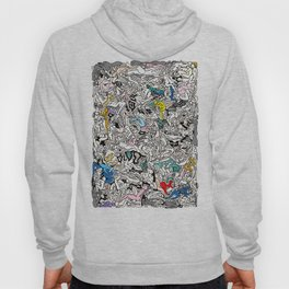 Kamasutra LOVE Doodle Closeup Color Valentine Hoody
