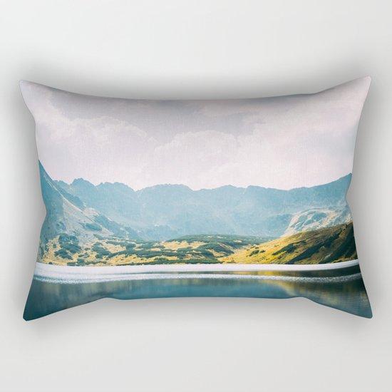 Autumn Mountain Lake Rectangular Pillow