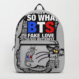 KPOP  BTS Cat Backpack