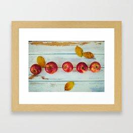 Apples (Color) Framed Art Print