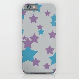 Stars light purple grey Design iPhone Case