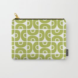 Groovy Mid Century Modern Pattern Chartreuse Carry-All Pouch