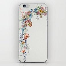 floral print iPhone & iPod Skin