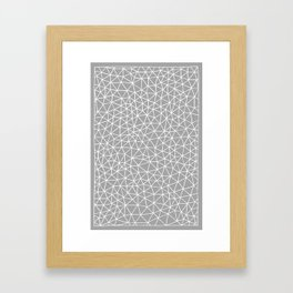 Connectivity - White on Grey Framed Art Print
