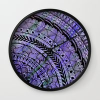 zentangle Wall Clocks featuring Zentangle by Doodle Frisson