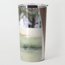 Stucco Window with View at Fort Stanton New Mexico Travel Mug