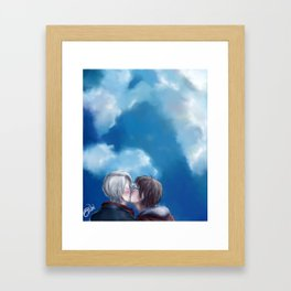 My love to keep you warm Framed Art Print