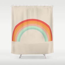 Vintage Rainbow Shower Curtain