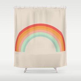 Vintage Rainbow Shower Curtain