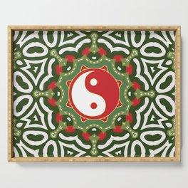 Holiday Festive Balance Yin Yang Serving Tray