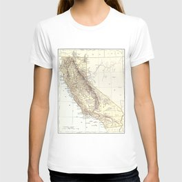 Vintage Map of California (1878)  T-shirt