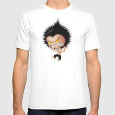 Mr. Zhong: Mad MEDIUM Mens Fitted Tee White