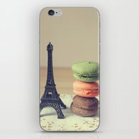 macaroons iPhone & iPod Skins featuring Macaroons by Adeline Lee