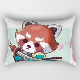 Red Panda Samurai Rectangular Pillow