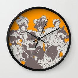 Vintage Ladies APRICOT / Vintage illustration redrawn and repurposed Wall Clock