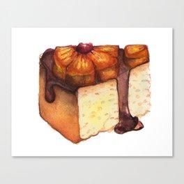 Pineapple Upside-Down Cake Slice Canvas Print