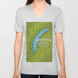 Haweswater, lake district England travel poster Unisex V-Neck