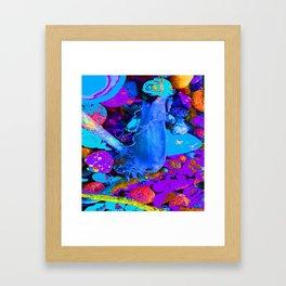 Mermaids purse purple/violet/blue Framed Art Print