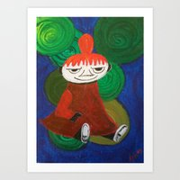 moomin Art Prints featuring Little My by Nita Bond