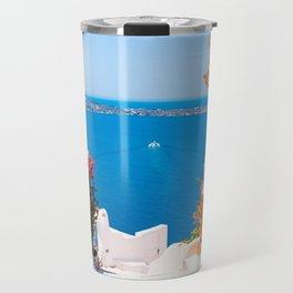 Santorini Greece Travel Mug
