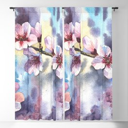 Blossoming almond Blackout Curtain