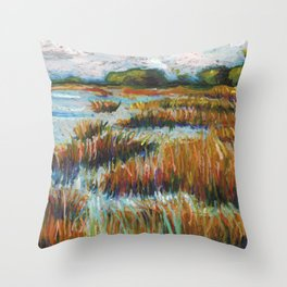 Salt Marsh Throw Pillow