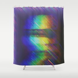His Mind is Dark and Full of Errors 216 Shower Curtain
