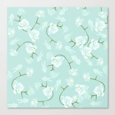 Eternal orchid delicate bloom - blue Canvas Print