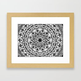 Black & White - I See You - Mandala Framed Art Print