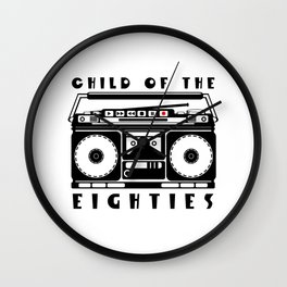 Eighties Music Wall Clock