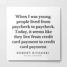 39   |  Robert Kiyosaki Quotes | 190824 Metal Print