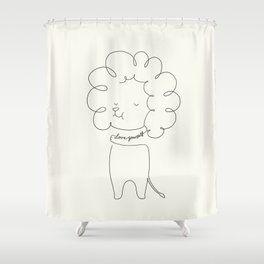 Love Yourself Lion Shower Curtain