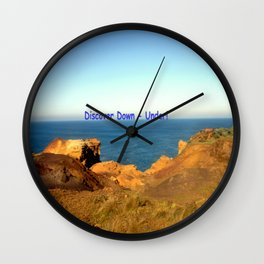 Discover Down - Under! Wall Clock