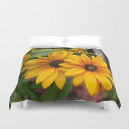Blossom Where You Are Planted Duvet Cover