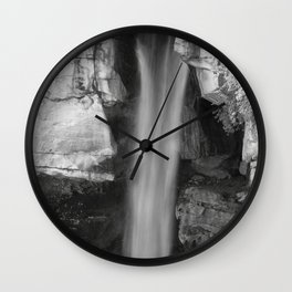 Water falling through rocks Wall Clock
