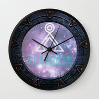 stargate Wall Clocks featuring Milky way gate by Samy