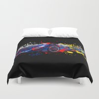 sport Duvet Covers featuring sport car by mark ashkenazi