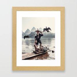 Guilin Fisherman Framed Art Print