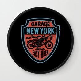 garage new york full trotlle Wall Clock