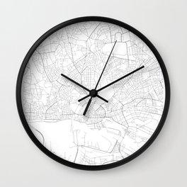 Hamburg, Germany Minimalist Map Wall Clock