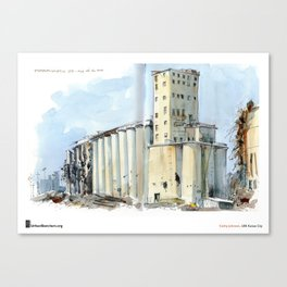"Cathy Johnson, ""Grain Elevators"" Canvas Print"